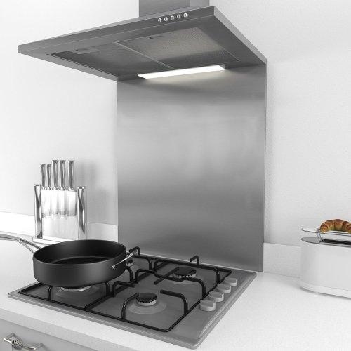 60cm * 75cm Splashback for Cooker Hoods 60cm Stainless Steel And Glass Kitchen Chimney Hood (60cm)