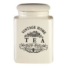 Vintage Home Tea Jar - Cream