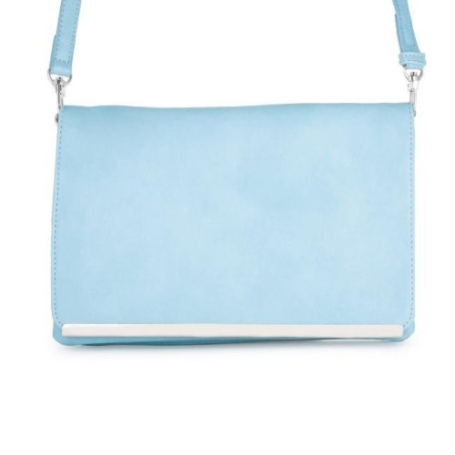 e6d478cc03 J Goodin TW-0057-BLUE Martha Blue Leather Purse Clutch with Silver Hardware  on OnBuy