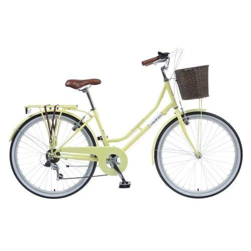 "Viking Belgravia Ladies 26"" Wheel 6 Speed Traditional Heritage Bike Cycle Yellow"