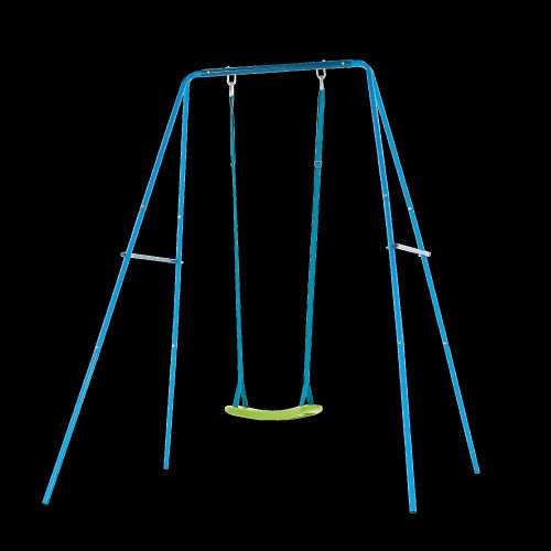 TP Toys 2 in 1 Metal Swing Set With 2 Seats Blue Ages 6 Months -8 Years