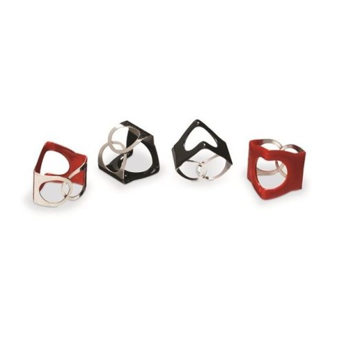 PinchClip Cymbal Wing Nut Replacement 3-Pack, Red