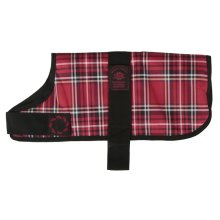 Animate Dog Coat Waterproof Red Tartan, 12""
