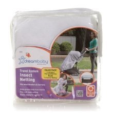 Dreambaby Travel System 2 Pack - Carrier & Stroller Insect Nettings (in Zip Bag)