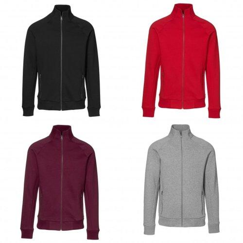 ID Mens Fitted Full Zip Fleece Jacket