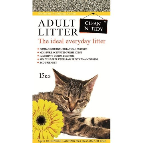 Clean-n-Tidy Adult Everyday Long Lasting Odour Control Cat Litter, 15 Kg