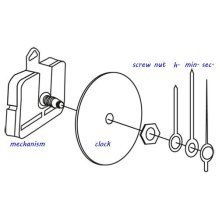 Clock Hands - 72mm Hour Hand and 98mm Minute Hand With Seconds Hand