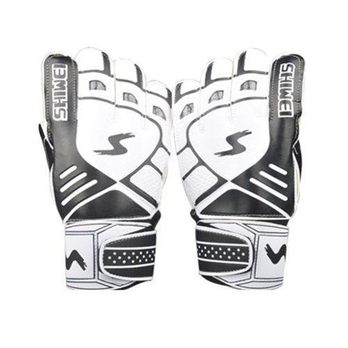 Cool Receiver Glove Latex Football Receiver Gloves for Adults, (White/black, M)