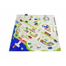 Little Helper 3D Children's Play Rug in Mini City Design 100 x 100 cm