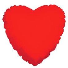 Metallic Red Jumbo Heart Foil Balloon - 32/81cm P30