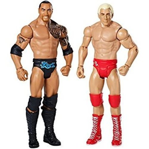 WWE Wrestlemania 32, Ric Flair and The Rock Figure 2-Pack by Mattel