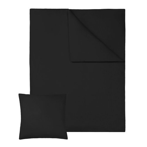 4 bedding sets 200x135cm cotton 2-piece black