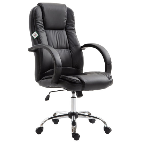 Vinsetto High Back Executive Office Chair Ergonomic Design Adjustable Seat Height 360 Degree Swivel PU Leather Black