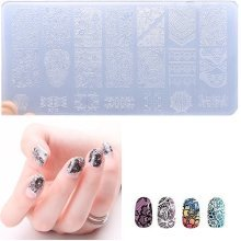 1 Pc Nail Stamping Plates Plastic Stamping Plate Lace Flower Nails Art Stamp Template