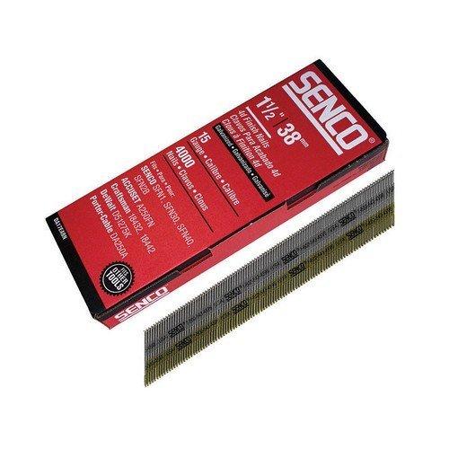 Senco DA17EAB Chisel Smooth Brad Nails Galvanised 15G x 38mm Pack of 4,000