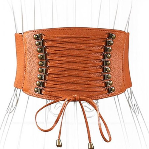 Hot Sell New Designer Women Ladies Strap Buckle Cinch Belts Corset Stretch Skinny Waistband High Waist Slimming Waist Belts