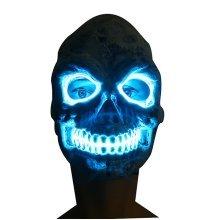 Halloween LED Mask Glowing Black Mask