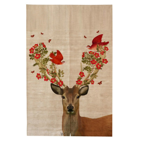 Cute Vibrant Little Deer Pattern Home Curtain