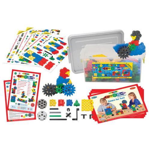 Morphun Gearphun Starter Building Bricks Set (200 Pieces) - Educational Construction System