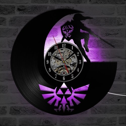The Legend of Zelda Antique LED Light Vinyl Record Wall Clock Home D¨¦cor