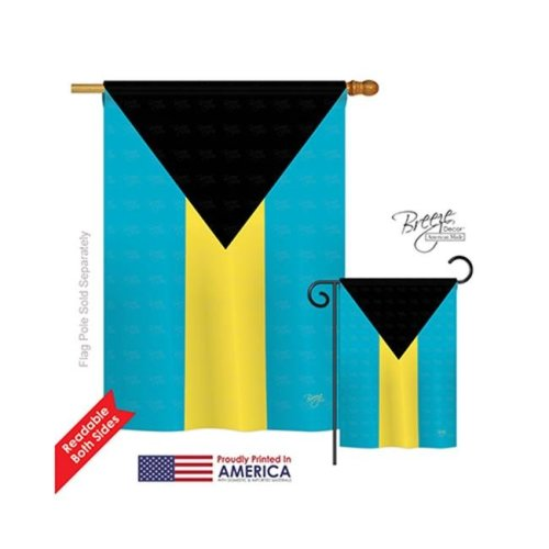 Breeze Decor 08341 Bahamas 2-Sided Vertical Impression House Flag - 28 x 40 in.