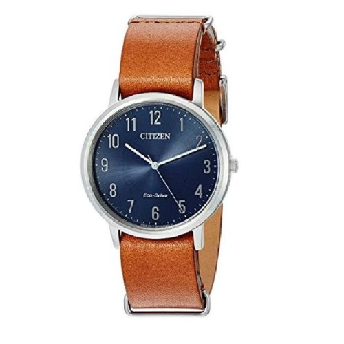 Citizen Eco-Drive Chandler Leather Mens Watch BJ6500-12L