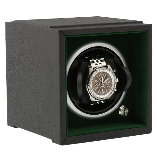 Watch Winder Smaller Wrist Sizes Soft Touch Green Inner by Aevitas