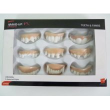 Smiffys Unisex Teeth And Fangs - Assorted Styles 9 Pack -  teeth fangs smiffys