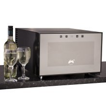 Ovation Black Horizontal 8 Bottle Thermoelectric Wine Cooler / Fridge