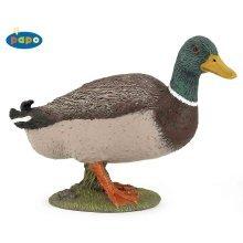 Papo Mallard Duck Figurine - Animal Farm Toy Figure New -  mallard duck papo animal farm toy figure new