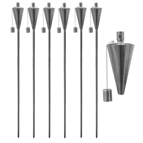 Garden Fire Torch - Oil/Paraffin Lantern - 1460mm Triangle Design - Pack of 6