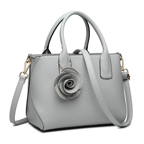 Miss Lulu Women Flower Handbag Leather Shoulder Bag Tote