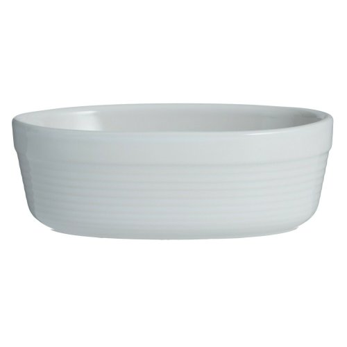 Mason Cash 2002.096 William Mason 17cm White Oval Dish, Stoneware