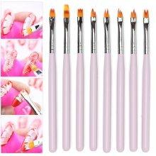 8Pcs French Nail Art Brushes