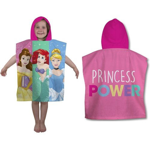 Kids' Disney Princess Power Hooded Poncho Towel