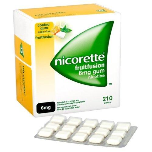 Nicorette Fruitfusion 6mg Gum 210 Pieces