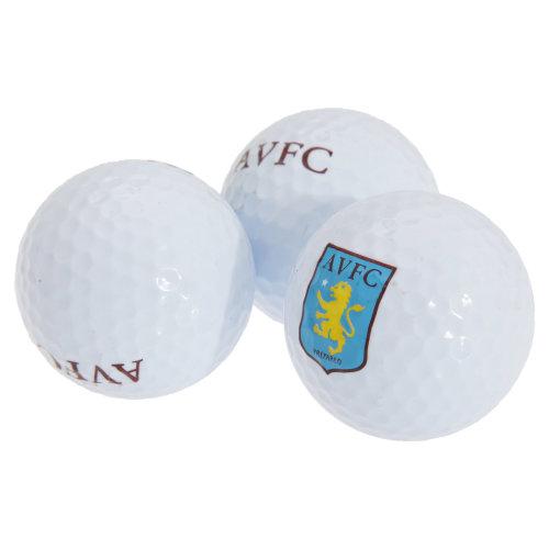 Aston Villa FC Official Football Crest Golf Ball Gift Set
