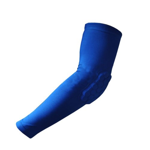 [BLUE] Comb Pad Protection Compression Basketball Shooter Sleeve, Size L