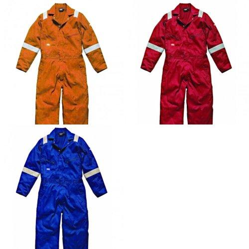 Dickies Mens Hi-Vis Stripe Workwear Coverall (Pack of 2)