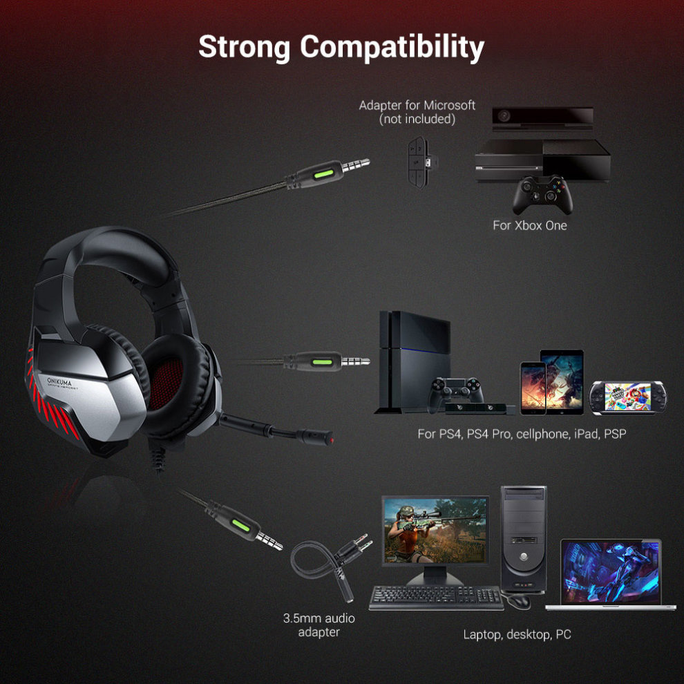 ONIKUMA K5 Gaming headset for Xbox PC Headphones