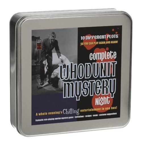Complete Whodunit Mystery Night Role-Playing Mystery Game in Tin