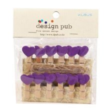 Mini Natural Wooden Clothespins Photo Paper Peg Pin Craft Clips with 2m Jute Twine, S