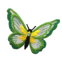 6 Pcs Exquisite Applique Patches Yarn Applique Embroidered Patches, Butterfly #2