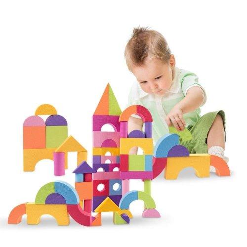 Set of 40 Colourful Kids Soft Foam Building Blocks