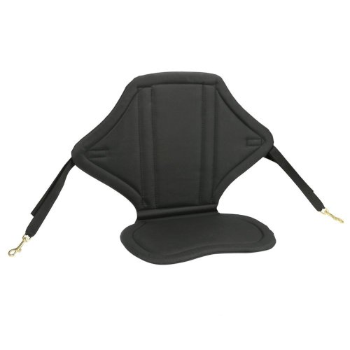 PELLOR Kayaking Backrest Seat Cushion With Detachable Back Bag (Black, Fit width 16.5in+)