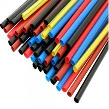 Heat Shrink Tube 4,8/2,4 Cable Sleeve Wire Protection 1m Length Various Colours