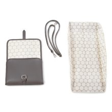 Lin & Leo Small Grey Baby Changing Bag Portable Changing Mat