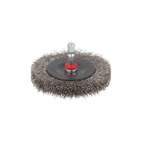 """wolfcraft stainless steel wire wheel brush Ø 75 x 12 mm, hexagon shank 1/4"""" (6.35 mm), 2711000"""