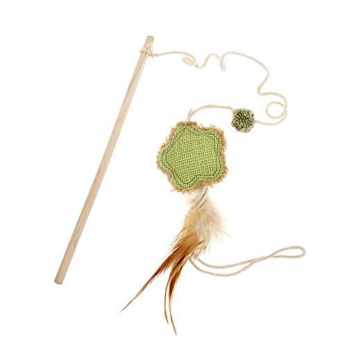 Earthy Pawz Jute Fabric Flower Cat Teaser Toy