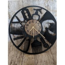 Barbers Shop Vinyl Record Clock home decor gift